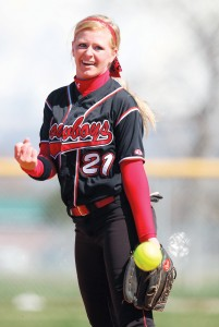 Grantsville High School's Whitney Fields pitches the ball Wednesday against Stansbury.