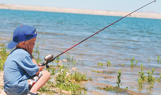 Fickle fish frustrate several anglers tooele transcript for Fishing channel on dish