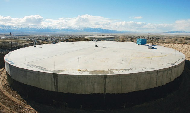 Tooele City has gained 1.5 million gallons of water storage with the completion of a new tank located near Settlement Canyon. photography/Troy Boman & Restrictions prevail despite more water « Tooele Transcript Bulletin ...
