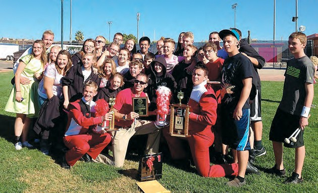 Valley marching bands finish off season on high note tooele grantsville high schools marching band poses with its championship trophies ghs took first place in the 1a division of the state marching band publicscrutiny Image collections