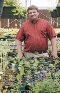 Bob Gowans at Tooele High School's greenhouse. photography/Troy Boman
