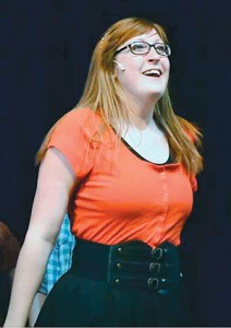 """Audrie Gillie in the role of Taylor McKessie in Tooele High School's production of """"High School Musical.""""   photo courtesy of Garrett Bryant"""