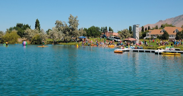 Neighbors Family And Friends Celebrated Stansbury Days With Water Games Saturday Afternoon On The Lake