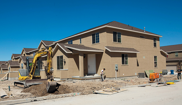 Land low prices fuel home construction tooele for Cost of building a house in utah