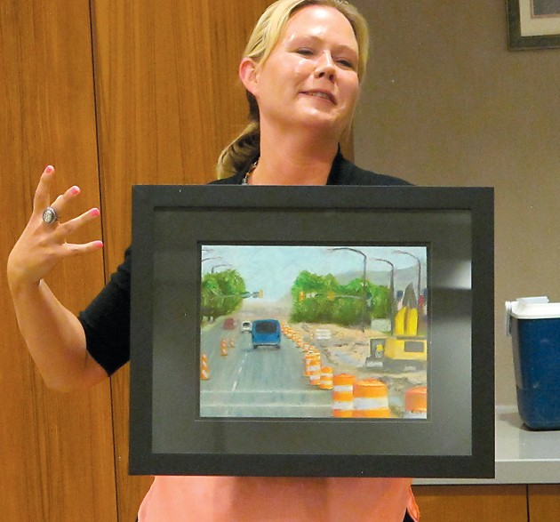 Main Street reconstruction is subject of local artist's painting
