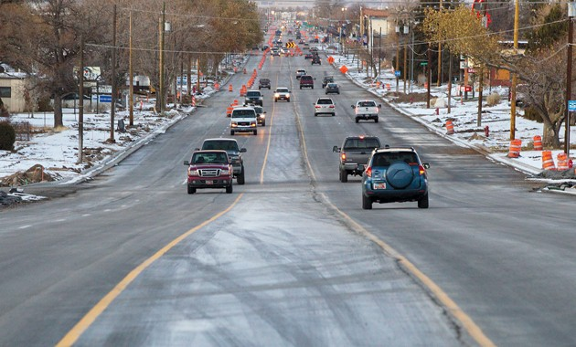 Although temps are dropping, Main St. paving to continue