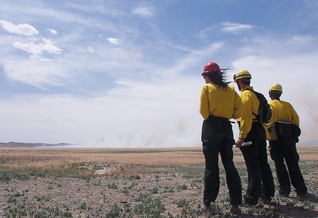 Prescribed burn lit in Rush Valley to take out junipers