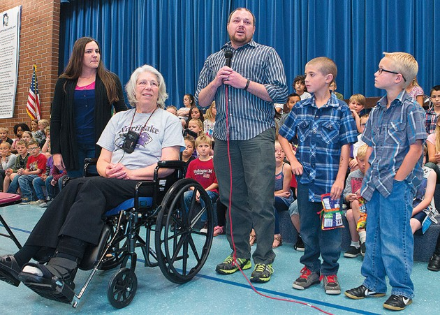 Two students honored in saving local stroke victim