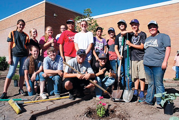 FFA students at Tooele High create new walkway garden
