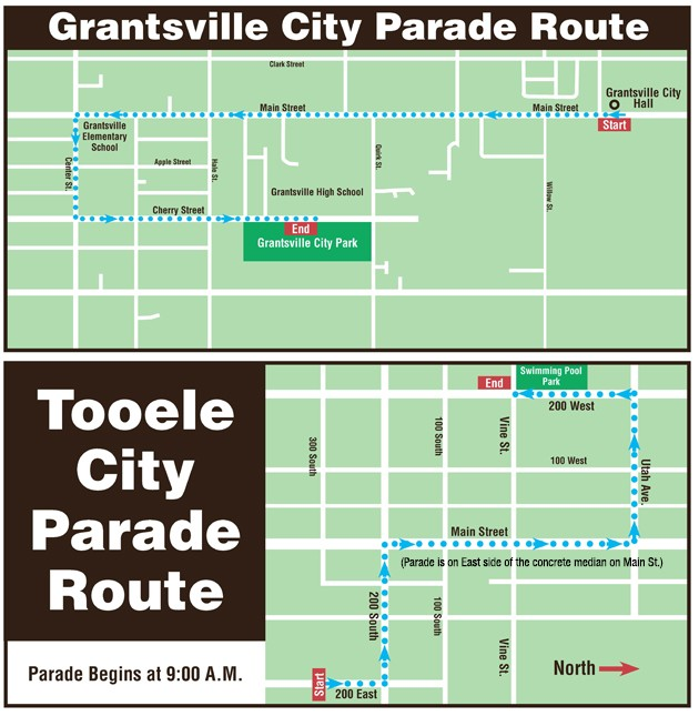 2016 Independence Day Parade Routes