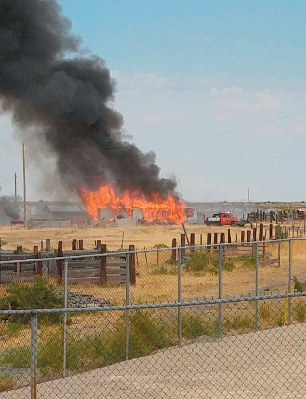 Copper thieves may have caused trailer fire