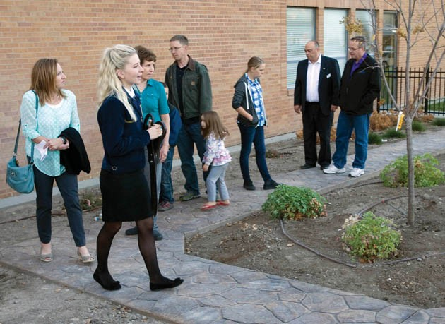 Tooele High FFA students cut ribbon for 'Garden of Learning'