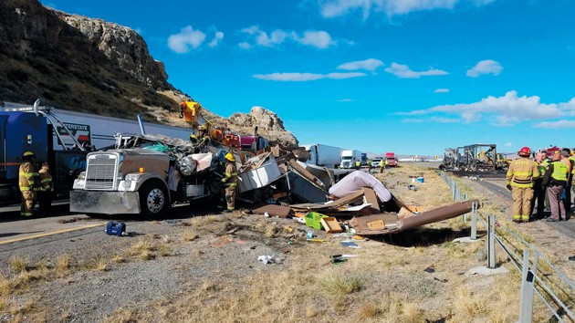 2 dead in I-80 semitrailer accident