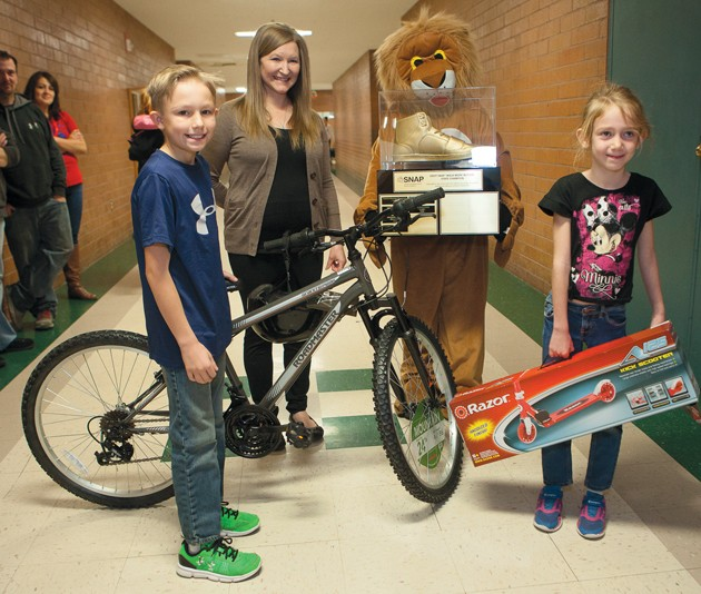 West Elementary again wins prize for walking to school