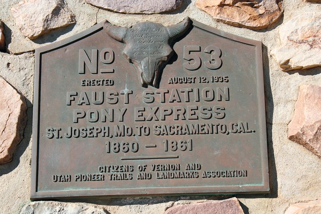 Old 'Doc' Faust left an indelible mark on Pony Express Trail