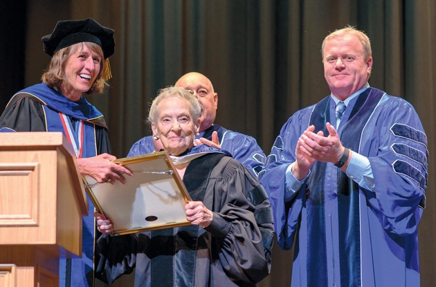 White receives honorary degree