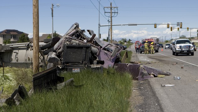 Semi overturns on SR-36 Friday afternoon
