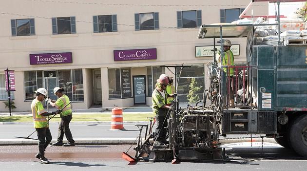 Main Street microsurfacing to continue through September