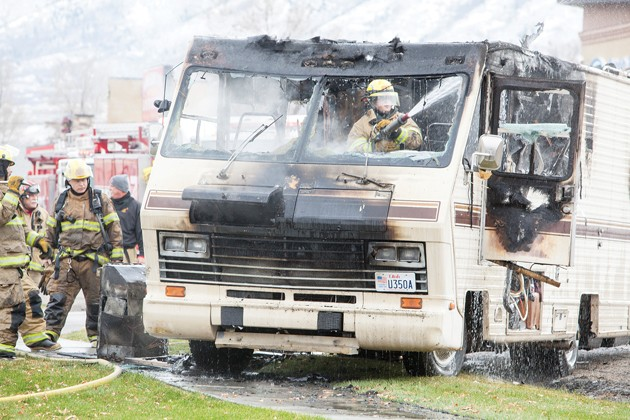 RV catches fire on 500 North in Tooele