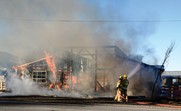 Fire claims Rush Valley barn
