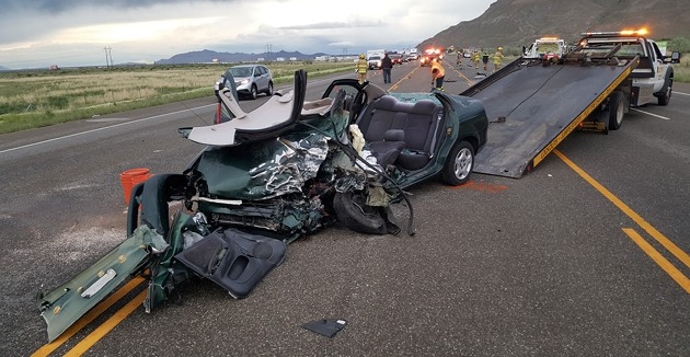 Five vehicles involved in SR-36 crash on Sunday « Tooele