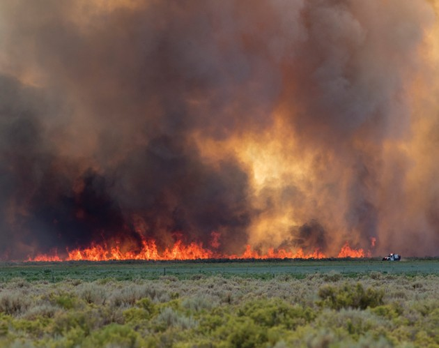 Wildfire burns 120 acres of BLM land in Rush Valley