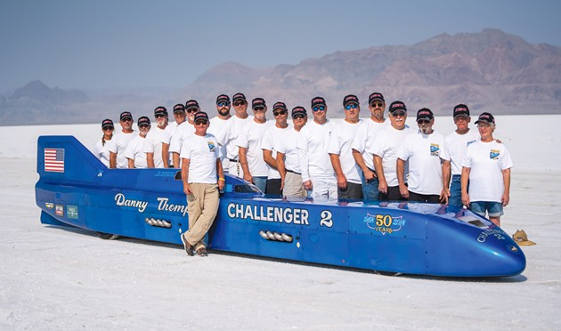 Turbinator II accelerates to 463 mph during Speed Week on the Salt Flats