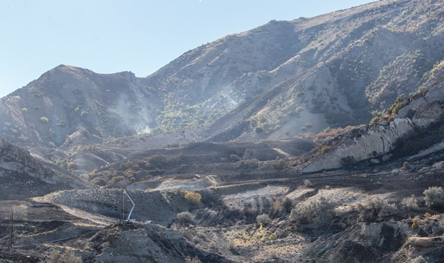 Black Fire burns 800 acres of Oquirrh Mtns.