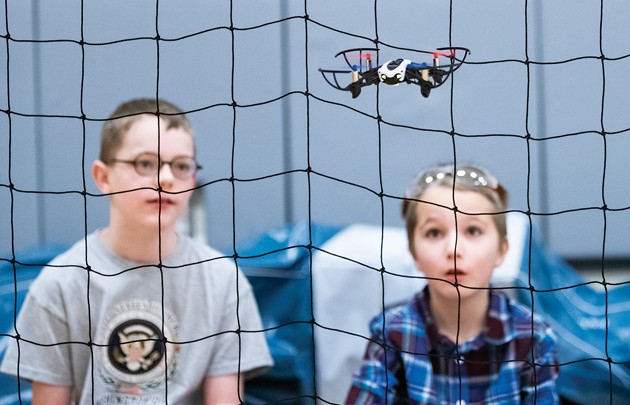 Local students compete in first drone competition