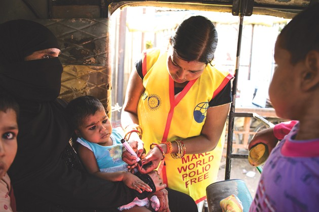 Local Rotary Club participates in global work to eradicate polio