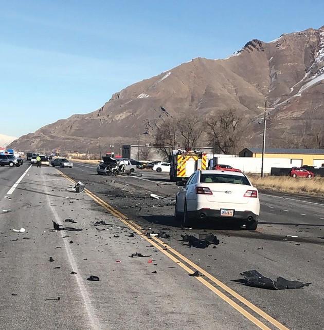 Four car collision closes SR-36 near Lake Point