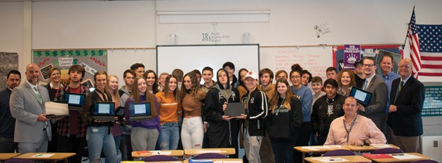 THS financial literacy class gets 36 new donated Chromebooks