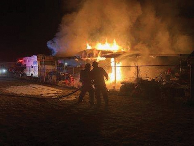 Early morning house fire displaces family
