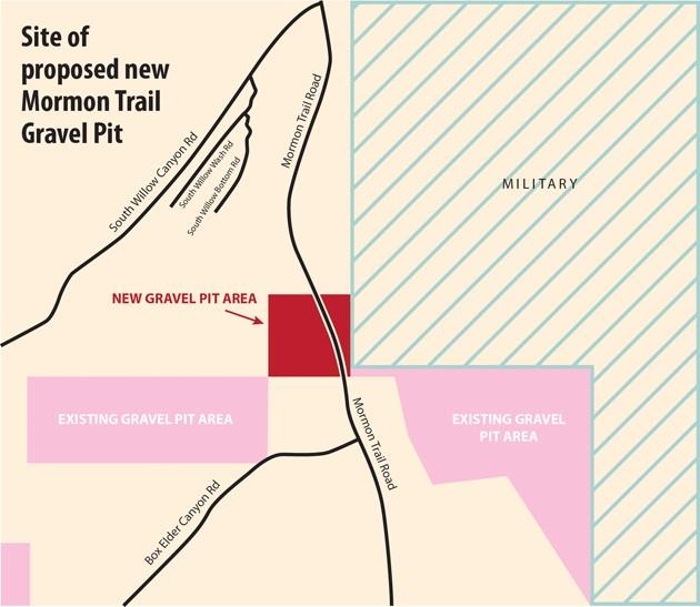 Mormon Trail gravel pit tabled
