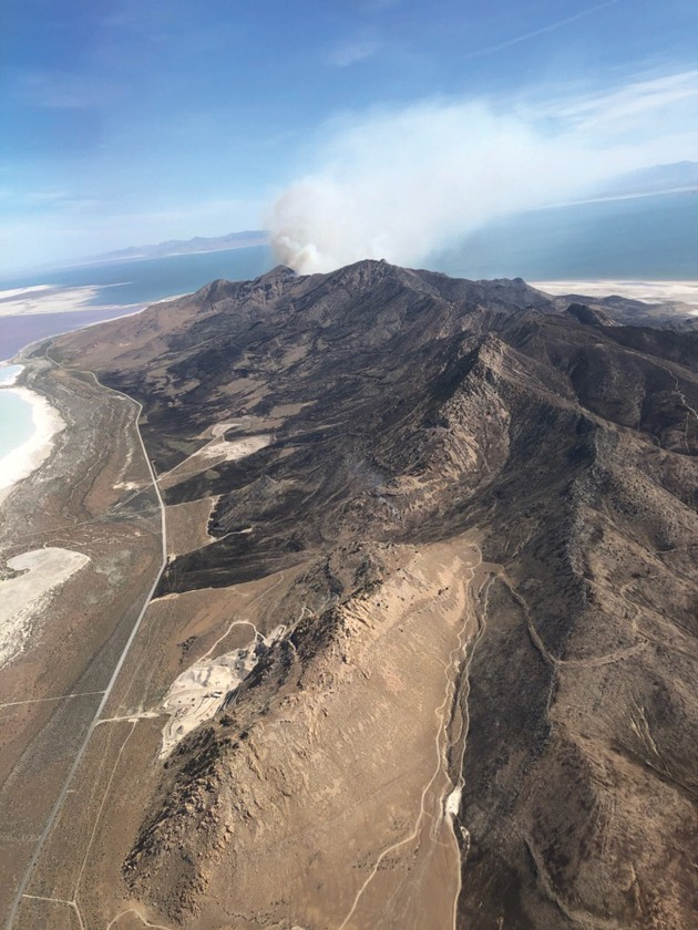 Two Stansbury Island fires scorch over 13,000 acres
