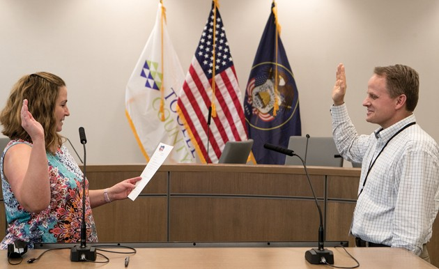 County Manager sworn in